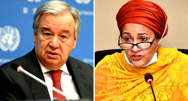 UN: Buhari congratulates Guterres, Amina Mohammed on second term reappointment