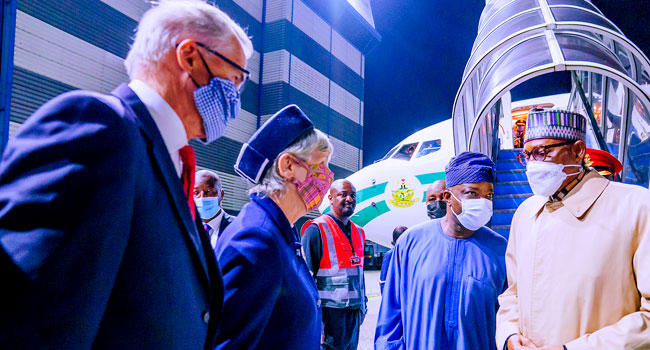 PHOTOS: Buhari In London For Medical Check-Up, Education Summit