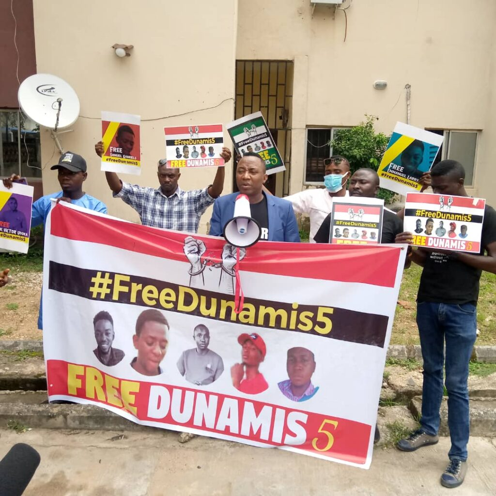 Group threatens to protest at Dunamis Church if DSS fails to release 5 activists