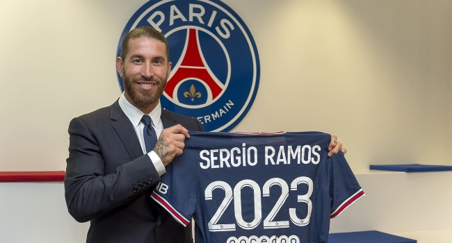 Sergio Ramos Signs Two-Year Contract With Paris Saint-Germain