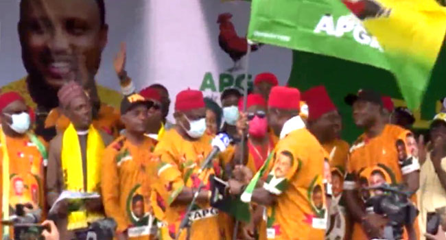 Soludo Presented APGA Flag As Party Launches Campaign For Anambra Election