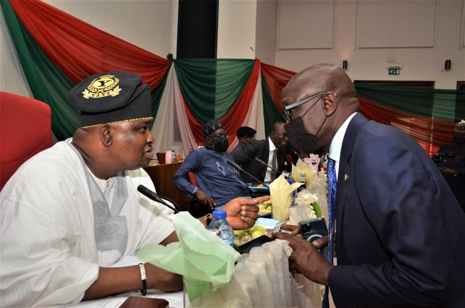 PHOTO NEWS from the NNPC GMD at the joint interactive session of the Senate Committees